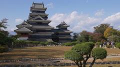 Matsumoto Castle in Nagano, Japan Stock Footage