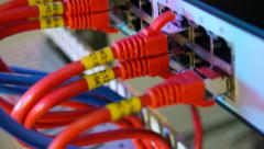 Supercomputer with cables Stock Footage