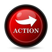 Stock Illustration of action icon. internet button on white background..