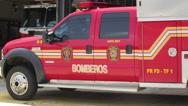 Stock Video Footage of firemen 911 emergency truck