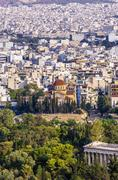 Greece, Athens, cityscape with church Agia Marina Stock Photos