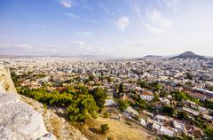 Greece, Athens, cityscape with Mount Lycabettus - stock photo