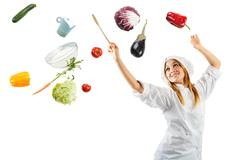melody in cooking - stock photo