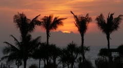Sunset at Old Man's Bali 4k Stock Footage