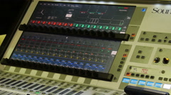 Concert music audio mixer console 1 of 2  Stock Footage