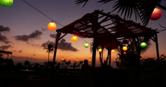 Sunset Restaurant Bali 4k Stock Footage