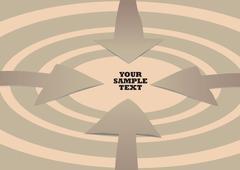 Four paper cut-out arrows Stock Illustration