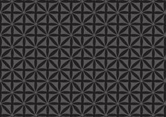 seamless black repeated pattern wallpaper - stock illustration