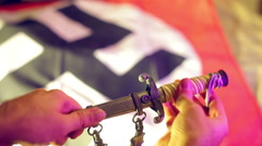 Nazi artifact knife Stock Footage