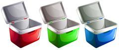 Ice buckets Stock Illustration