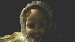 scary doll weird - stock footage
