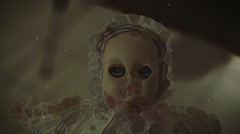 Scary doll creepy Stock Footage
