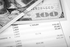 Dollars and loan plan Stock Photos