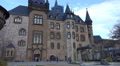 Medieval gothic castle Wernigerode in mountain range Harz HD Footage