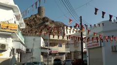 Stock Video Footage of Arabia Orient Oman sultanate city of Muttrah (Matrah) 133 decorated cityscape