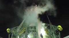 The Soyuz-FG rocket - stock footage