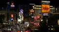 Las Vegas Strip Nightlife Crowded Boulevard Rush Hour Cars Traffic Night Lights HD Footage