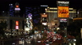 Iconic Las Vegas Strip Neon Signs Nightlife Sightseeing Landmark Night Lights US HD Footage