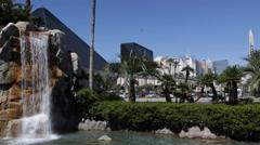 Establishing Shot Las Vegas Famous Sight Luxor Pyramid Egyptian Sphinx Landmarks - stock footage