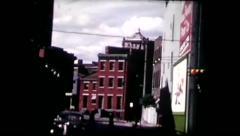 Stock Video Footage of Downtown Cincinnati 50's (vintage 8mm home movies)