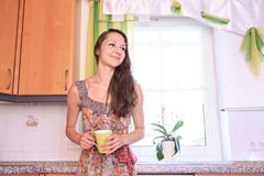 Kitchen activities Stock Photos