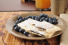 Blueberry toaster tarts - stock photo