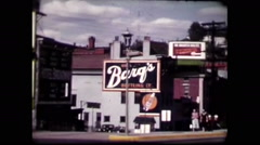 Downtown Cincinnati 50's #2(vintage 8mm home movies) Stock Footage