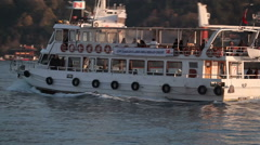 Istanbul Bosporus Passenger Boat Stock Footage