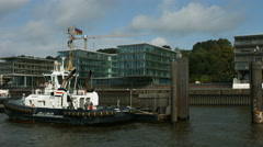 Hamburg harbour towboats Stock Footage
