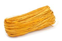 Stock Photo of yellow natural raffia