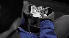 Smartphone , kid Black n Blue Stock Footage