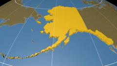 Alaska extruded. Solids. Graticule. Stock Footage