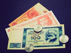 Retro look Money picture Stock Photos