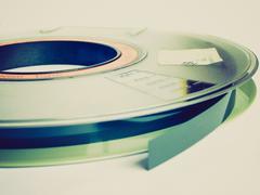 Retro look Tape reel Stock Photos