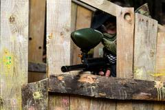 Paintball Shooter Stock Photos