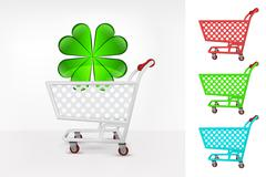 happiness icon in shopping cart colorful collection concept - stock illustration