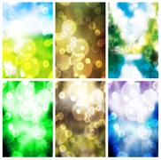 Colorful blurry background set Stock Photos