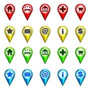 destination icon navigation collection vector illustration - stock illustration