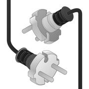 Disconnect plug ending isometric vector object illustration Stock Illustration
