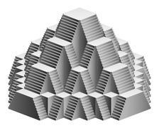Pyramid staircase design construction vector illustration Stock Illustration