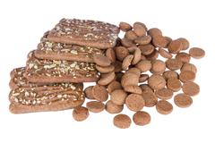 Speculaas and ginger nuts, dutch sweets Stock Photos