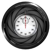 Stopwatch in shutter ready to snapshot Stock Illustration
