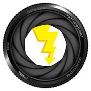 Flash strike in shutter ready to snapshot Stock Illustration