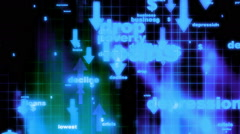 Bad Economy Looping Background Stock Footage