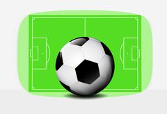 Football ball with playground background design vector Stock Illustration