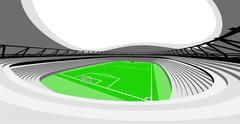 football stadium auditorium view design of my own vector - stock illustration