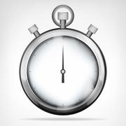 Chrome stopwatch isolated object vector illustration Stock Illustration