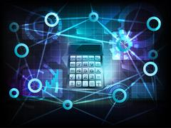 Data calculation in business world transfer network Piirros
