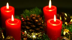Advent wreath - stock footage