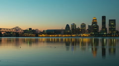Louisville Skyline Morning Twilight Timelapse 2 Stock Footage